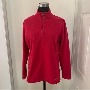 "Eddie Bauer Minimalist Comfy 9""Front Zippered Fleece Sweater  Pullover Top"